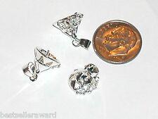 1pc Metal Hoop Hook crystal bails Charms pendants findings craft beads New