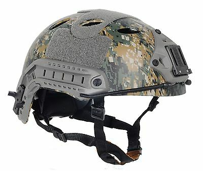 Details about  /COOL Airsoft CS Protective FMA  FAST Helmet-PJ TYPE A-Tacs FG PA470L//XL