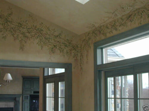 Wisteria Border Stencil Reusable Stencils for DIY Wall Decor
