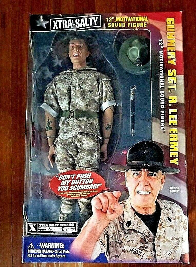 Sideshow Collectibles R Lee Ermey Action Action Action Figure XTRA SALTY MISB 76acd7