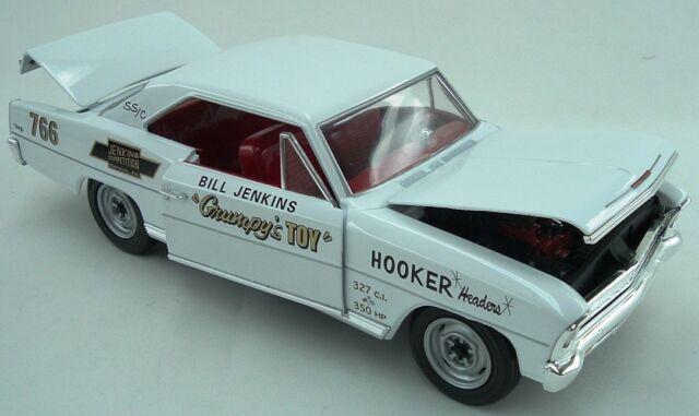 1966 Chevy Nova Bill Grumpy Jenkins WHITE version 1:18 Auto World 5982
