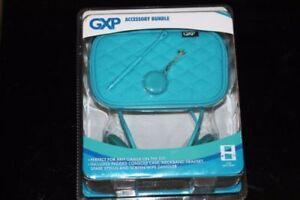 Cuffie blu per Nintendo DSi 3 DS GXP Console Custodia Neckband ESSENTIALS BUNDLE