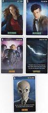 Doctor Who the Card Game 2009 c7e - 5 Art Cards: Silence, Amy, Sontarans etc