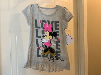 NWT Size Small 4//5 Girls/' 3pk Disney Minnie Mouse Short Sleeve T-Shirts