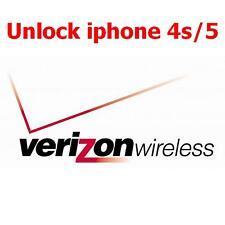 Desbloqueo de fábrica oficial para iPhone bloqueado Verizon USA 4 4s 5 5s 5c 1 Servicio de día