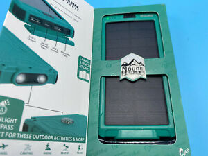 ADURO 10000mAh Solar Power Bank LED Dual USB Backup Battery Charger GREEN