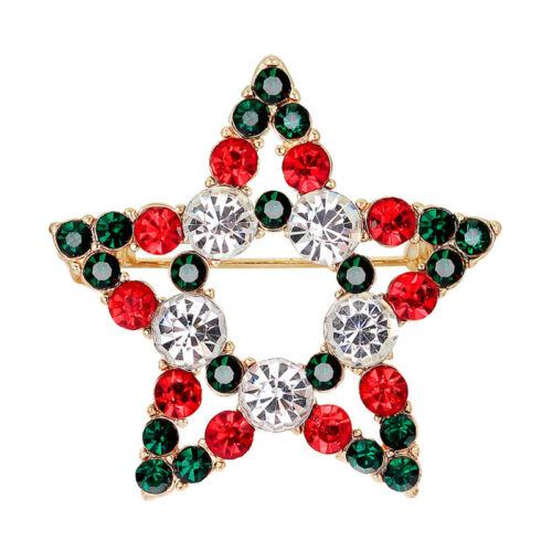 Hot Crystal Strass Brosche Weihnachten Weihnachtsmann Pin Tree Party Schm Tk