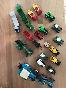 Siku-Farmer-Traktoren-Abschleppen-Kipper-ect-Konvolut-21-Teile