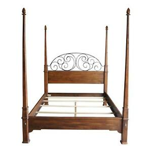 Image Is Loading 4 Poster Bed Queen Iron Old