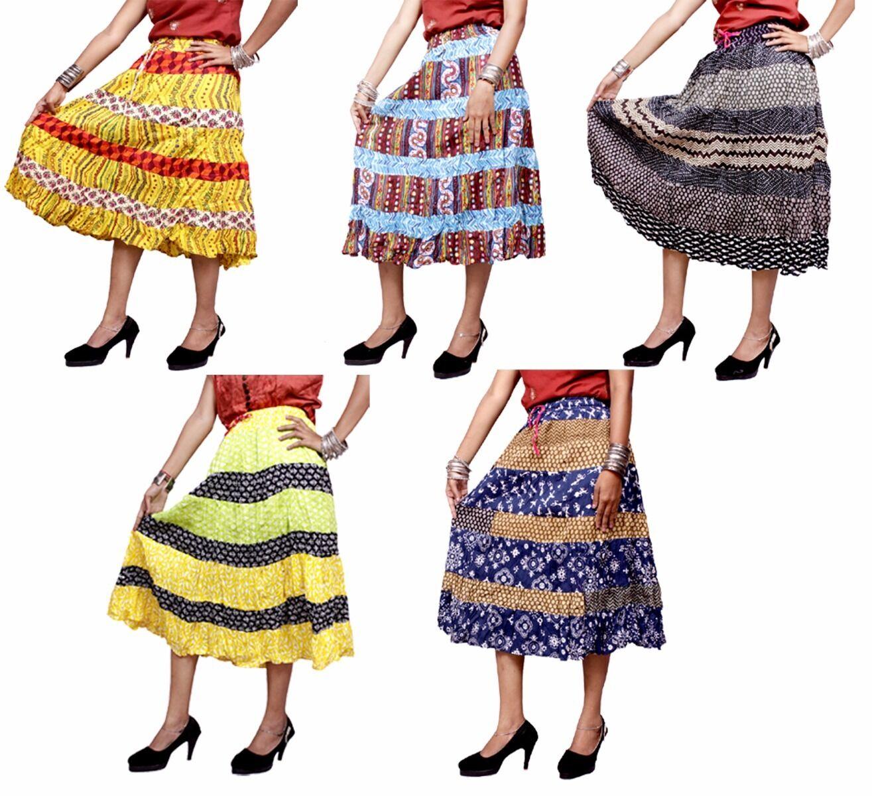 Apparels India 10Pcs Patchwork Cotton Skirt Gypsy Hippie USA Boho Wholesale Lot