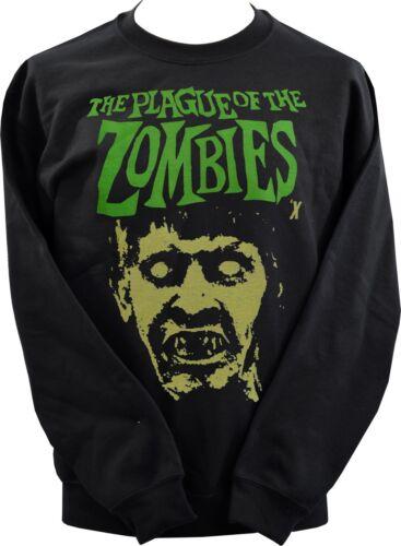 Felpa unisex nero peste del classico Zombie Film Horror Cult Movie XS-7XL