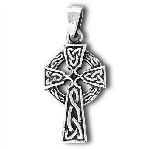 Small 925 STERLING SILVER CELTIC KNOT CROSS PENDANT