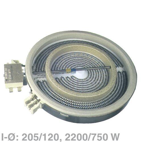 Faisceau radiateur 2200//750w 230v ego 10.51211.004 Cuisinière plaque de cuisson comme AEG 374064001