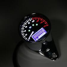 Universal Motorcycle LCD Digital Tachometer Speedometer Odometer