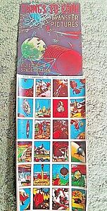 Vintage SPACE Transfer Tattoos Display with 12 SHEETS of 24 TRANSFERS 1950s #6
