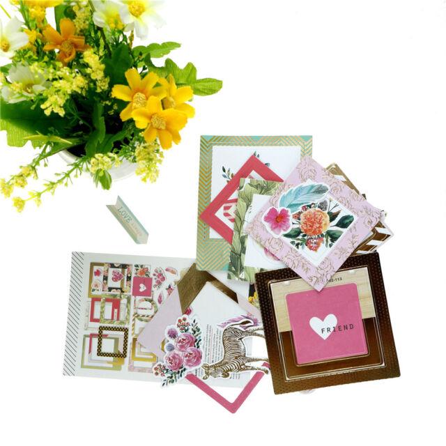 32pcs photo love flowers frames cardstock die cut for scrapbooking//photo deco td
