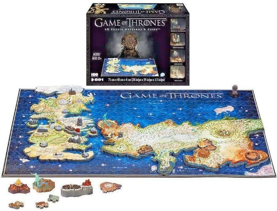 4D Cityscape Game Of Thrones 4D Puzzle Of Westeros & Essos