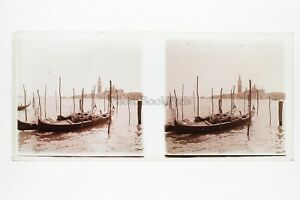 Venezia-Italia-Foto-Amateur-Placca-Da-Lente-N6-Stereo-Ca-1920