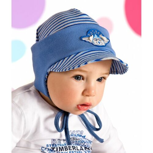 3 years Boys hat spring autumn stripped blue  size 1,5 year