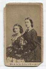 CDV ACTRESSES WEBB SISTERS. PHOTO BY FREDRICKS, N.Y.