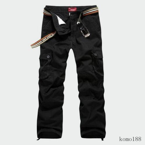 New Men/'s military outdoor overalls cargo loose pants trousers Carpenter 29-44