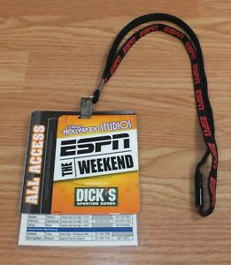 Disney-039-s-Hollywood-Studios-The-ESPN-Weekend-All-Access-2009-Card-amp-Lanyard-RARE
