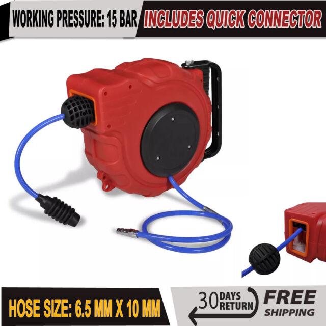 65ft 20m Auto Retractable Rewind Air Reel Hose Air Line Compressor Garage Tool