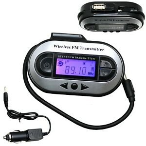 EXMAX Portable 0.2W//200mW Stereo Wireless FM Transmitter Radio MP3 Music Player Broadcast with 3.5mm AUX Microphone Support TF Card for Tour Guide System Teaching Simultaneous Meeting Black