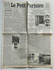 N919-La-Une-Du-Journal-Le-Petit-Parisien-8-Avril-1912-un-agent