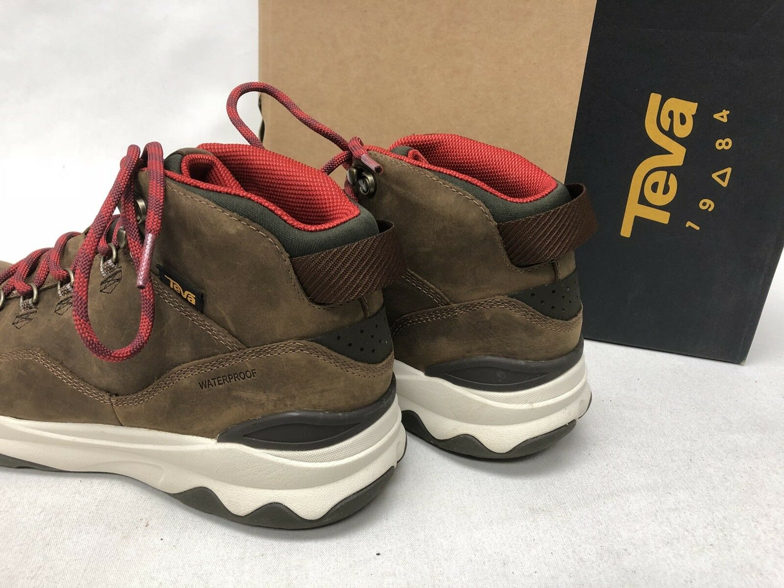 TEVA TEVA TEVA ARROWOOD Utility Mid WP Brown Pelle TRAIL BOOTS Hiking High 1017168 size 0b5b5a