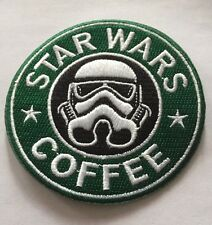 """STAR WARS Storm Trooper Starbucks Logo Embroidered Iron On Patch (3.25"""")"""
