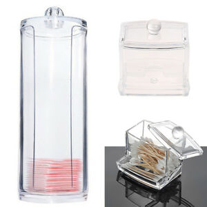 Acrylique-Organisateur-Coussin-de-Coton-Coussinet-Boite-de-rangement-afDI
