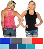 Fashion Women's Sleeveless Vest Casual Lace Back T-shirt Tank Top Blouse