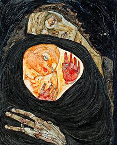 Dead-Mother-I-by-Egon-Schiele-A1-High-Quality-Art-Print