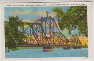 card-Illinois-Central-Railroad-Bridge-Council-Blutts-Iowa-A79