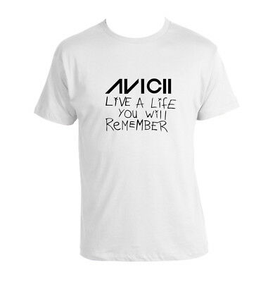 Avicii Live A Life You Will Remember T-shirt Unisex Tee Avicii Edm Dance Legend