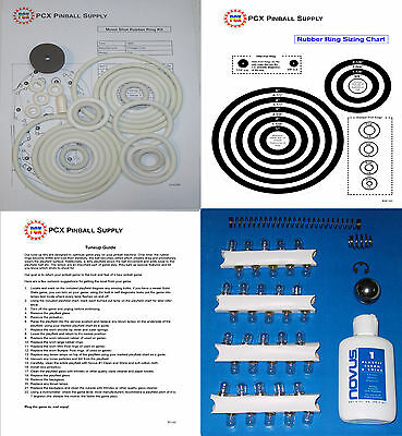 1969 Chicago Coin Astronaut Moon Shot pinball rubber ring kit