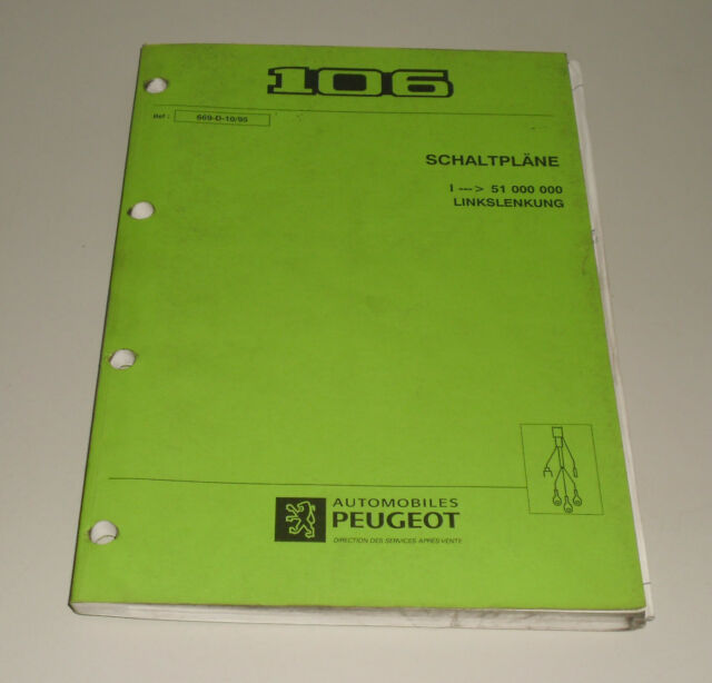Workshop Manual Peugeot 106 Wiring Diagrams Stand 10  1995
