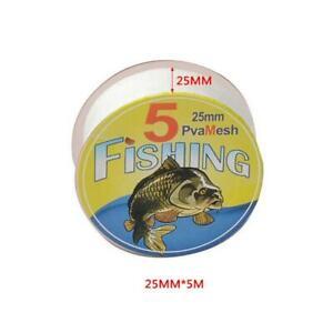 5M PVA 25//37//44mm Mesh Refill Carp Fishing Stocking Bait BAGS Wrap X3G3