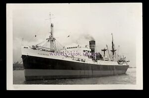 UK0820-Clan-Line-Cargo-Ship-Clan-Macrae-under-tow-built-1942-photograph