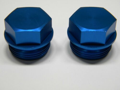 Blue 7//8-20 Pair 2 Plugs Holley QFT AED CCS 26-145B Fuel Bowl Plug