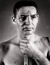 TERRY SAWCHUCK 8X10 PHOTO HOCKEY BOSTON BRUINS PICTURE NHL WITH STITCHES