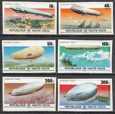 75 Jahre Zeppelin-luftschiffe 625-630** Geschnitten Burkina Faso Nr.
