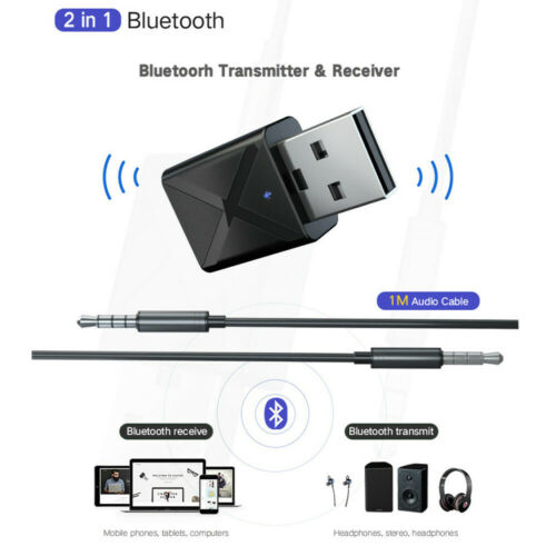 Bluetooth 5.0 Audio Receiver Transmitter Mini 3.5mm AUX Stereo Bluetooth Adapter