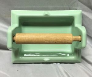 Vtg Jadeite Green Recessed Tile