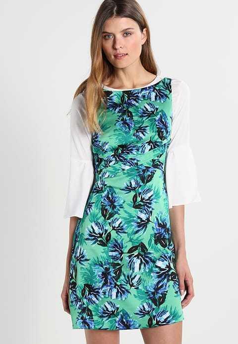 NEW Banana Republic Womens Apron Fit Flare Dress Green Floral 8 T Tall  NWT