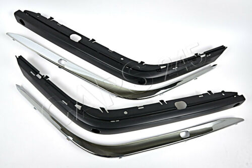 Front Bumper Mouldings with PDC hole Washer+Impact Strips L+R fits BMW E38 94-01