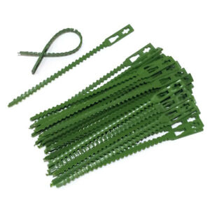 30pcs//lot Plastic Garden Cable Ties Reusable Cable Ties Climbing Plant Support//