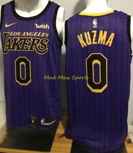 Details about KYLE KUZMA Los Angeles LAKERS Nike WISH Purple CITY EDITION Swingman Jersey