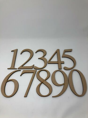 """150mm 6/"""" high 6mm thick laser cut wooden diy craft mdf numbers 15cm"""